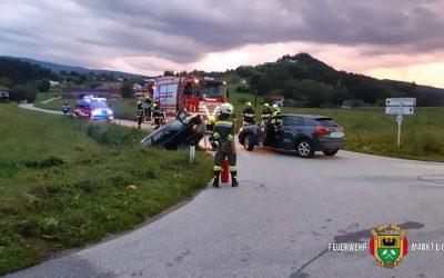 SRF Einsatz: Fahrzeugbergung aus Graben
