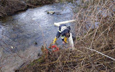 Schadstoffeinsatz: Ölfilm im Ligistbach