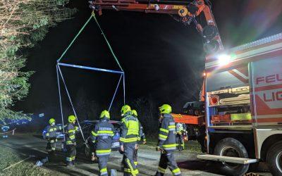 SRF Einsatz: PKW Bergung in Fluttendorf