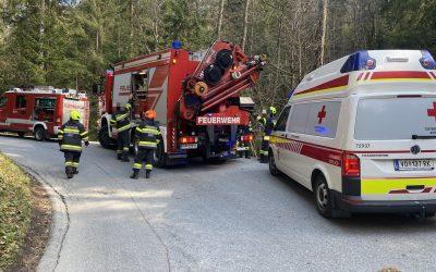 ++Menschenrettung nach Forstunfall in Unterwald++